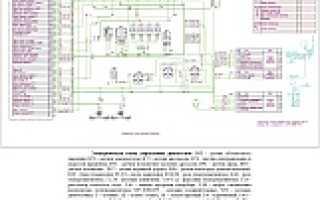 Электрические схемы датчиков управления двигателя