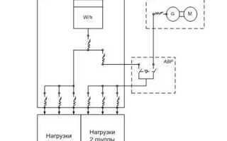 Электрическая схема подключения дизельного двигателя