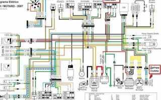 Электрическая схема китайского двигателя