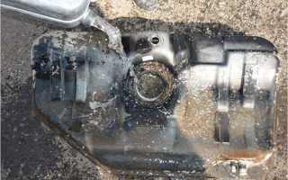 Как промыть бензобак не снимая