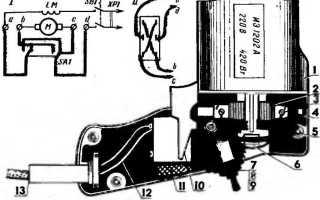 Электрическая схема двигателя для дрели