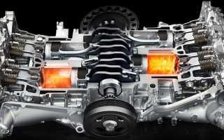 Что такое оппозитный бензиновый двигатель