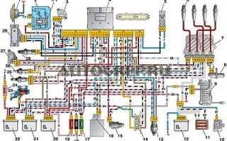Электрическая схема для инжекторного двигателя