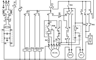 Вятка автомат электрическая схема двигателя