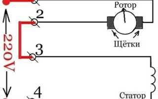 Электрическая схема подключения коллекторного двигателя