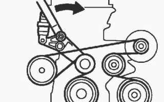 Двигатель 1az схема ремня